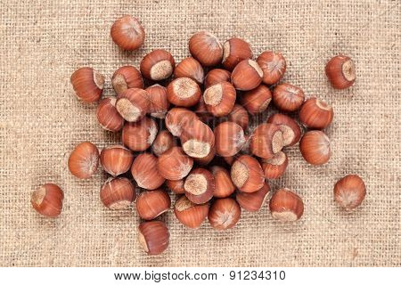 Hazelnuts In A Sacking