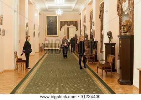 People In Foyer Of Moscow Conservatory
