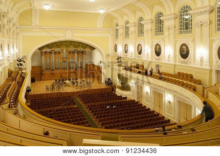 Big Concert Hall At Moscow Conservatory