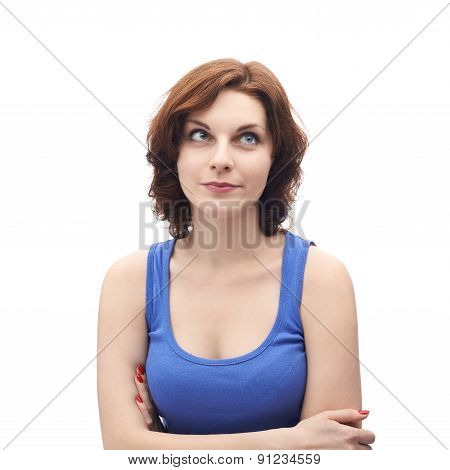 Young caucasian woman isolated