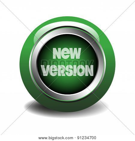 New version green glossy web button