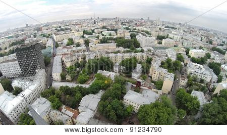 Aerial view of the cityscape in Basmanny District.