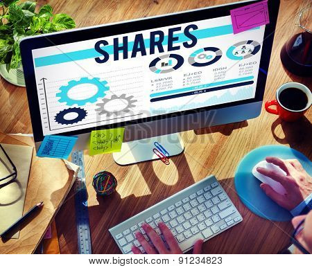 Shares Sharing Asset Contribution Dividend Concept