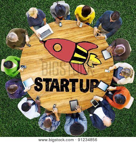 Start Up Business Plan Development Vision Concept