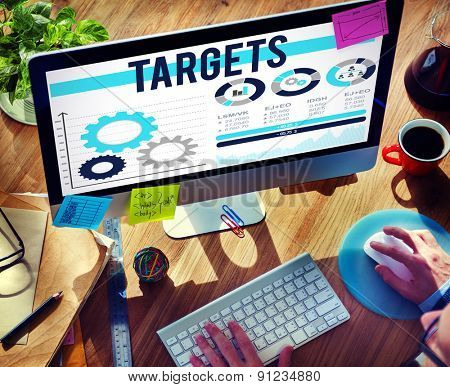 Targets Aim Aspiration Inspiration Vision Concept