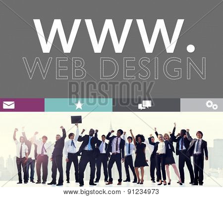 Web Design Web WWW Development Internet Media Creative Concept