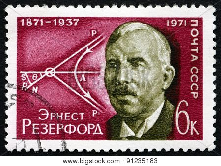 Postage Stamp Russia 1971 Ernest Rutherford, British Physicist