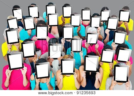 Group of People Digital Tablet Networking Technology Concept
