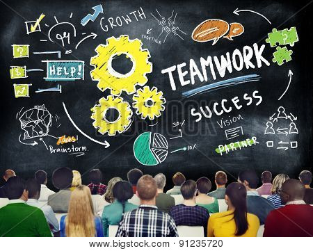 Teamwork Team Together Collaboration People Meeting Learning Concept