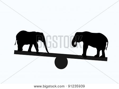 Two Elephants Weight