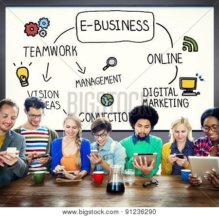 E-Business E-Commerce Global Business Marketing Concept