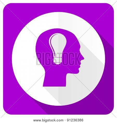 head pink flat icon human head sign