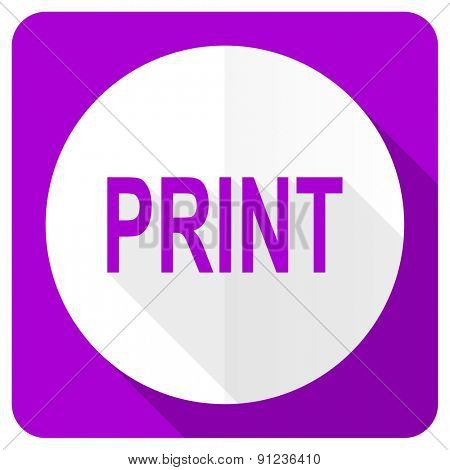 print pink flat icon