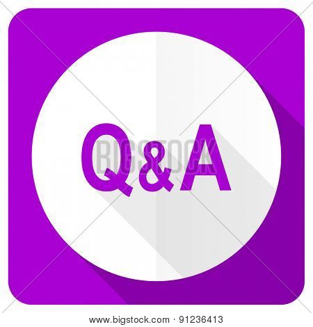 question answer pink flat icon