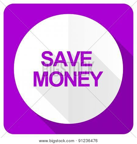 save money pink flat icon
