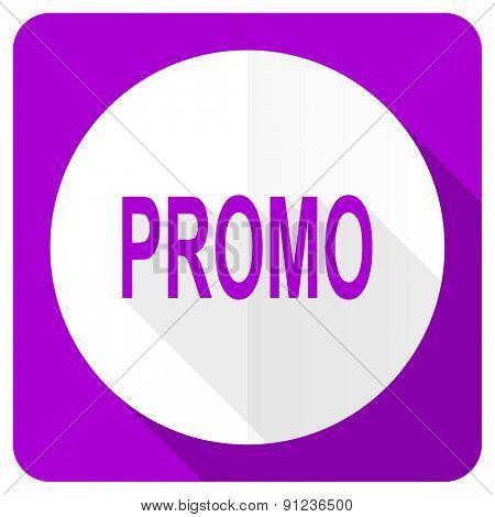 promo pink flat icon