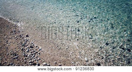 Beach At Adrasan, Antalya Province, Turkey.
