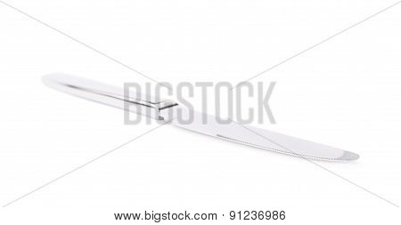 Stainless steel kitchen knife isolated