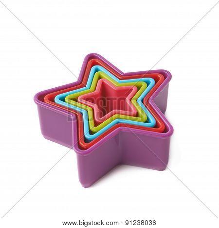 Star shaped baking molds isolated
