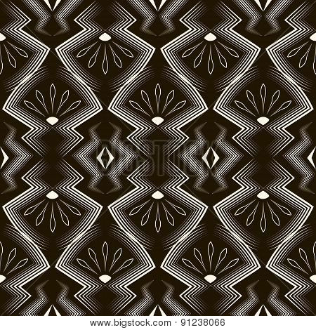 Seamless Antique Pattern Ornament. Geometric Stylish Background. Vector Repeating Texture