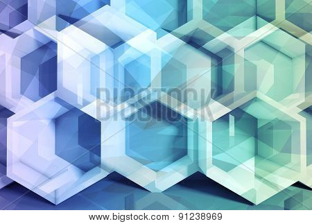 Abstract Colorful 3D Digital Background