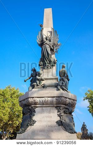 Monument A Rius I Taulet, Barcelona, Spain