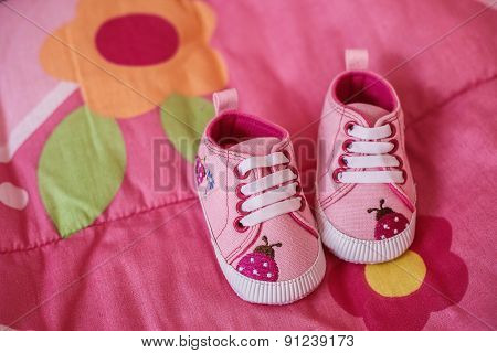 Pink Shoes For Little Baby Girl