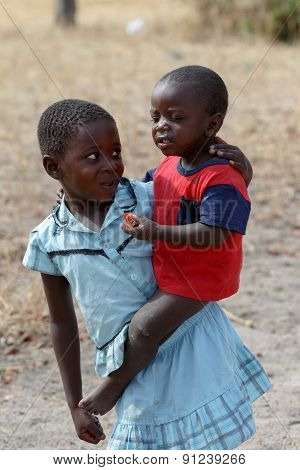 Dirty And Poor Namibian Childrens