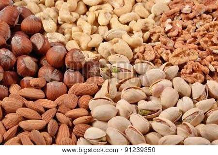 Heap Of Nuts Close Up