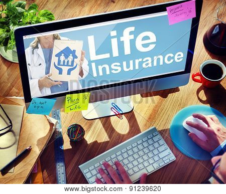 Life Insurance Safety Healthcare Protection Office Working Concept