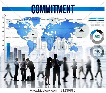 Commitment Promise Conviction Devotion Pledge Concept