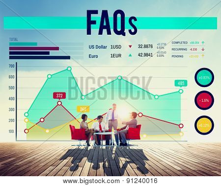 Faqs Frequently Asked Questions Service Concept
