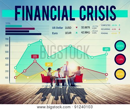 Financial Crisis Risk Banking Money Concept