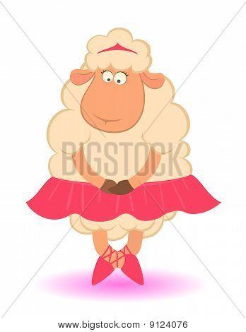 卡通搞笑羊-芭蕾舞演员图片