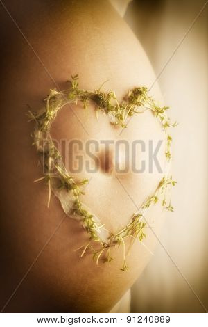 Cress Heart On Baby Bump