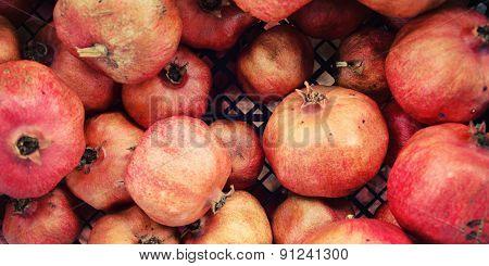 Pile Pomegranates In A Box. Lycian Way Walking.