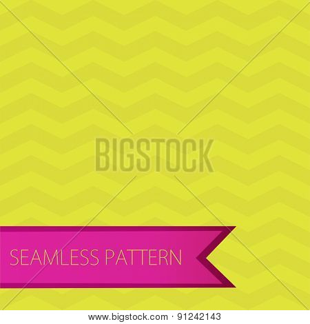 Seamless ZigZag Chevron Pattern. Green and pink vector background. Bright retro seamless pattern