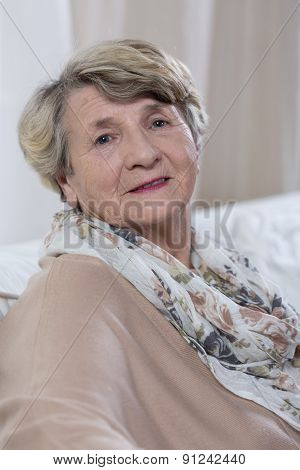 Portrait Of Senior Happy Lady