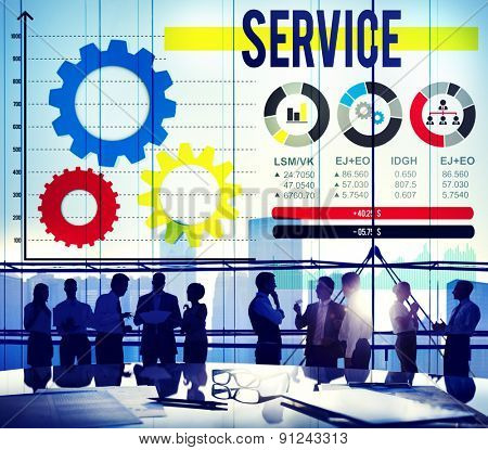 Service Support Assistance Care Quality Concept