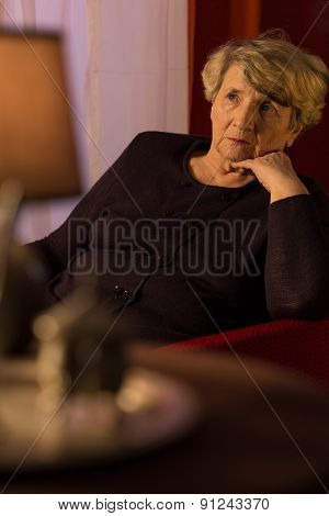 Older Depressed Lady