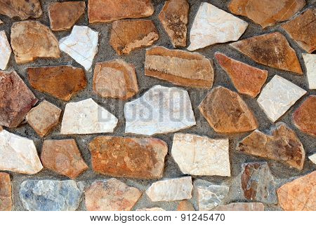 Detail of a stone wall close up for wallpaper