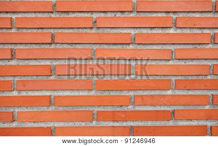 Red brick wall as exterior trim option.