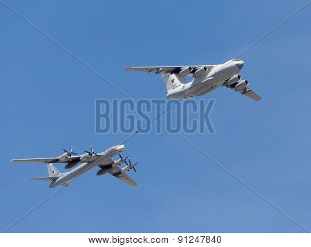 Tu-95Mc Planes And Il-78 Tanker