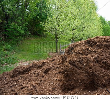 Mulch ready to apply to gardens