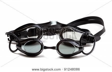 Two Black Goggles For Swimming