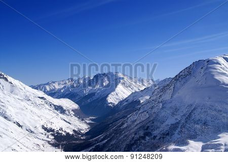 View From Off-piste Ski Slope