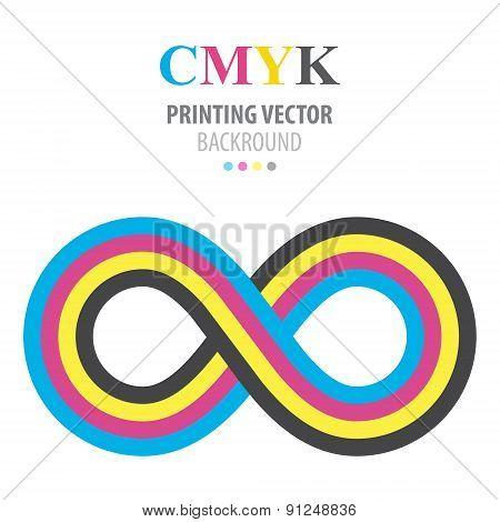 Abstract cmyk infinity