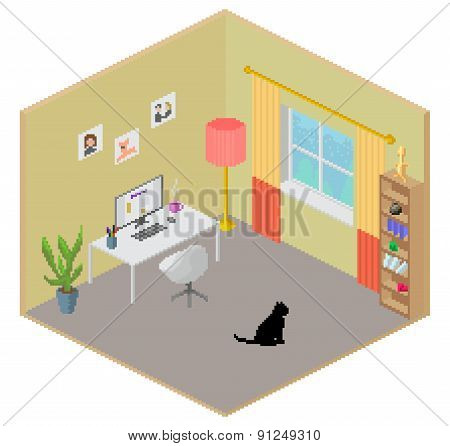 Isometric Room Interior