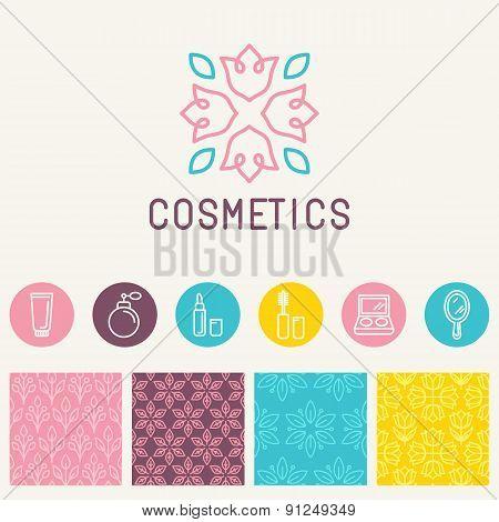 Vector Cosmetics Logo Design Element
