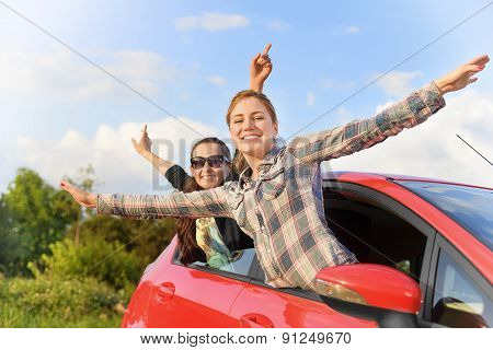 Girls In A Red Car.